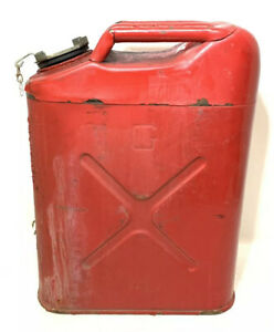 Blitz Red Metal Gasoline Gas Jerry Can 5 Gallon Blitz Usa 1998 rust Wear