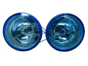 5 Inch Universal Blue Round Glass Fog Light Lamp W Built In Bulb Wiring Kit