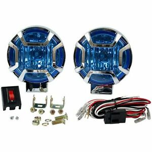 5 Universal Driving Blue Fog Light Lamp Kit Wiring Kit