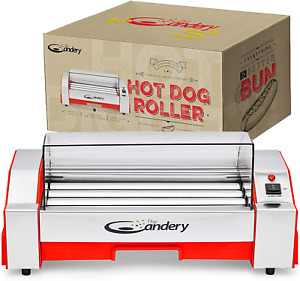 Upgraded Hot Dog Roller Sausage Grill Cooker Machine 6 Hot Dog Capacity