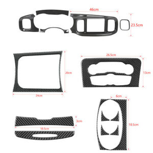 Central Control Frame Dashboard Panel Cover Trim Full Kit For Charger 2015 2020