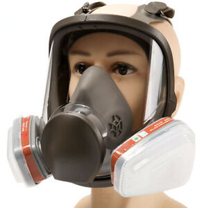 15 In 1 Full Face Gas Mask Facepiece Respirator For Painting Spraying 6800 Safe
