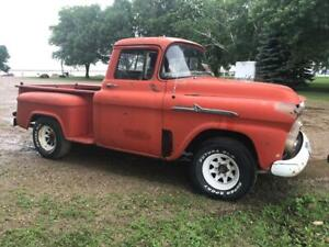 1958 Chevrolet Apache 3 Window Truck 4l60e Trans 5 3l Engine potential Build