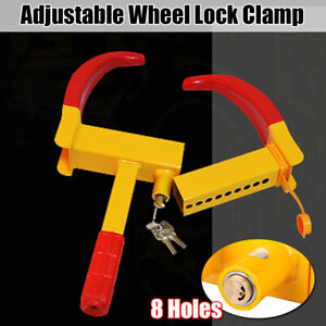 Outdoor Wheel Clamp Lock Boot Tire Claw Trailer Auto Car Truck Anti Theft Heavy