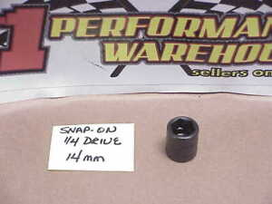 1 New Snap On 1 4 Drive Metric 6 Point 14 Mm Hex Shallow Impact Socket