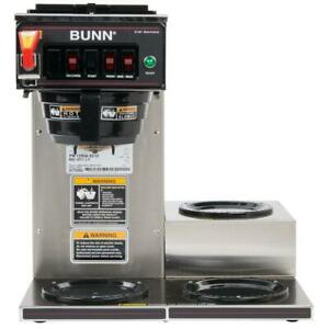 Bunn 12950 0212 Cwtf15 3 12 Cup Coffee Brewer 3 Right Warmers