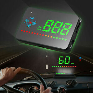 Car Digital Gps Speedometer Head Up Display Overspeed Tired Warning Alarm Mph Km
