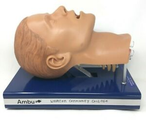 Ambu Airway Management Intubation Trainer Manikin Head Ems Emt Training Nursing