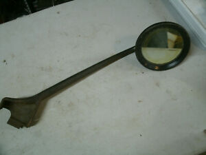 Vtg Early Ford Chevy Dodge International Truck Hinge Mount Mirror Left Drivers