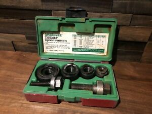 Greenlee 735 735bb Ball Bearing Knockout Punch Sets Complete Used