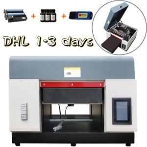 A3 Uv Flatbed Dtg Printer Cylindrical Signs Glass Metal Rotation Embossed Dhl