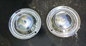 Vintage 1954 Plymouth Belvedere Savoy Classic Chrome Wheel Covers Hub Caps 2