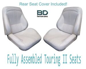 1964 Lemans Gto Touring Ii Front Bucket Seats Assembled Rear Seat Cover