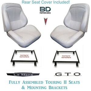 1964 Lemans Gto Convertible Touring Ii Bucket Seats Brackets Rear Cover