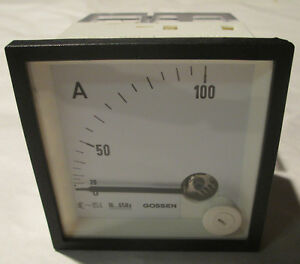 Gmw 100 Amp Ampere Meter 600v Catiii Square Analogue Display Unit New 1601ecc100