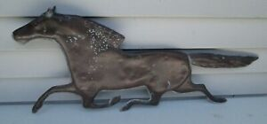 Antique Copper Horse Weathervane Accessory Lightning Rod 24 Long Very Nice