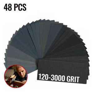 Set Sandpaper Crafts Car Body 48pcs Silicon Carbide Replacement Useful