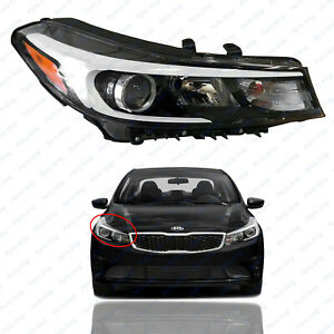 For 2017 2018 Kia Forte Sedan Headlight Right Passenger Halogen W o Led Drl