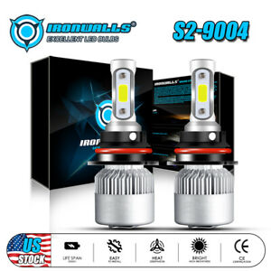 9004 Hb1 Led Headlight Bulbs For Dodge Ram 1500 2500 3500 1994 2001 Hi Lo Beam