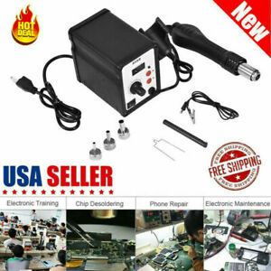 858d 700w Electric Led Hot Air Heat Gun Soldering Station Desoldering Tool Usa
