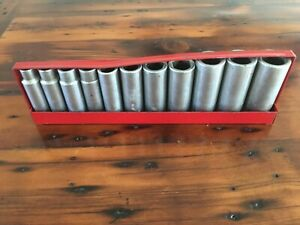 11 Wright 1 2 Dr Deep Well Impact Socket Made In Usa 3 8 To 1 W Tray 6 Pt