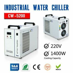 S a Cw 5200bh Industrial Water Chiller 220v 60hz For 130w 150w Co2 Laser Tube