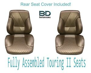 1965 Lemans Gto Touring Ii Front Bucket Seats Assembled Rear Seat Cover