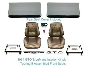 1965 Lemans Gto Touring Ii Full Bucket Seats Rear Seat Cover Front Panels