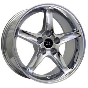 4x 17 Chrome Ford Mustang Cobra R Replica Style Wheels 17x9 5x114 3 24mm 94 04