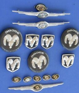 Chrysler Dodge Steering Wheel Emblems Lot Mopar Horn Button 300 Truck Ram Asst