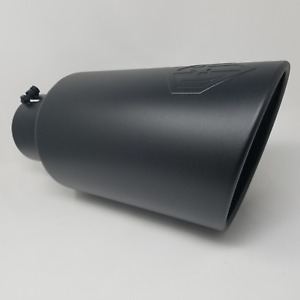 Offroad Arsenal 3 In 6 Out 18 Diesel Exhaust Tip Matte Black Embossed Logo T