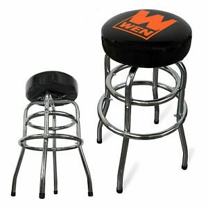 Garage Bar Stool Work Bench Shop Seat Swivel Mechanic Padded Chair Heavy Duty