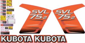 Kubota Svl75 2 Very Nice Aftermarket Decal Kit High Quality Decals