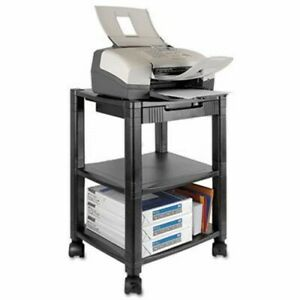 Kantek Mobile Printer Stand 2 shelf 17w X 13 1 4d X 19 3 4h Black ktkps540