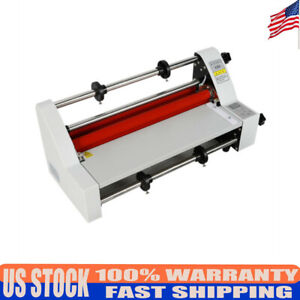 V350 13 350mm Hot Cold Roll Laminator Single dual Sided Laminating Machine 110v