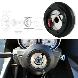 Black Quick Release Steering Wheel Short Hub Adapter For Honda Civic 1992 1995