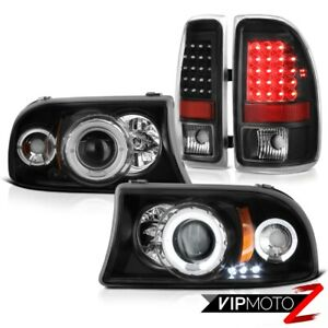 1997 2004 Dodge Dakota Magnum Angel Eye Drl Headlamps Rear Smd Brake Tail Lights