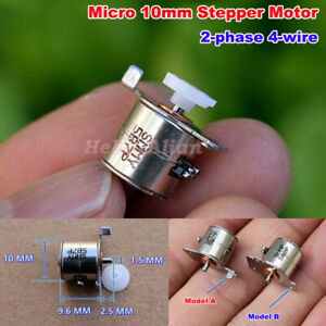 Dc 5v Micro Mini 10mm 2 phase 4 wire Stepping Motor Small 10by Stepper Motor