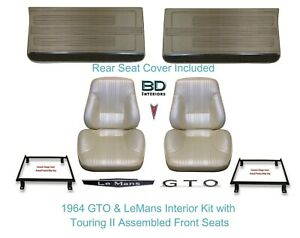 1967 Lemans Gto Convertible Touring Ii Bucket Seats Rear Cover Front Panels