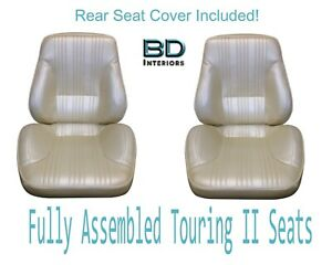 1967 Lemans Gto Touring Ii Front Bucket Seats Assembled Rear Seat Cover