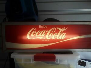 ONE of a kind VINTAGE COCA COLA LIGHTED SIGN EXTREMELY RARE