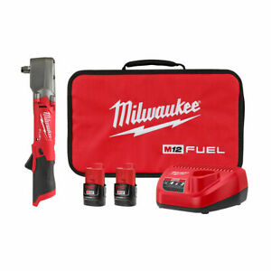 Milwaukee 2565 22 M12 Fuel 1 2 Right Angle Impact Wrench Kit W 2 Batteries