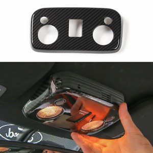 Car Roof Reading Lamp Light Cover Trim For Ford Mustang 2015 2020 Carbon Fiber