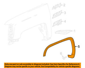 Gmc Gm Oem Front Fender wheel Well Flare Arch Molding Right 22775551