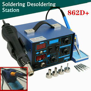 2in1 862d 700w 110v Smd Rework Electric Soldering Iron Station W Hot Air Gun