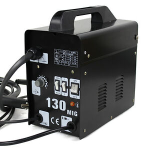 Mig 130 Flux Core Wire Welder Welding Machine With Cooling Fan Face Mask 110v