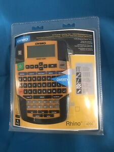 Dymo Rhino 4200 Industrial Label Maker For Security Pro A v Facility Mgmt New