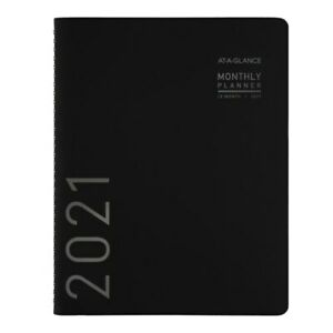 At a glance Contemporary Monthly Planner 7 X 8 3 4 Black 2021 70120x0521