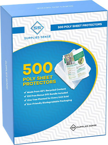 500 Page Protectors 8 5 X 11 Top Loading 3 Hole Design Sheet Protectors Arch