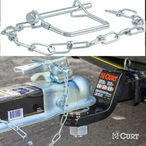 Universal Coupler Safety Pin Chain Curt Trailer Tongue Clip Towing Hauling Rv
